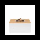 Cosi: Cosipure 100 Vuurtafel Teak Tafelblad - wit