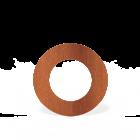 Forno: Rookkanalen BAC12.150 Rosette round 154 mm - Cortenstaal