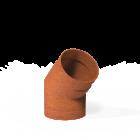 Forno: Rookkanalen BAC5.3.150 Flue 45° 154mm - Cortenstaal