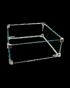 Easy Fires: Glazen Ombouw  Vierkant