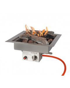 Easy Fires: Inbouwbrander Vierkant RVS - Zilver