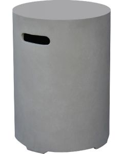 Elementi: Gasfles Cover Betonlook Rond 11 kg - Grijs