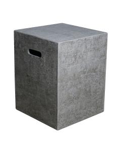 Elementi: Gasfles Cover Betonlook Vierkant 5 kg - Grijs
