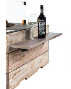 Happy Cocooning: Houten Side Table Nice & Nasty met 2 poeder coated/rubber steunen - 2 stuks