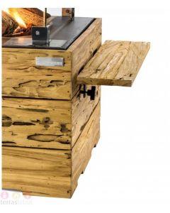 Happy Cocooning: Teakhouten Side Table Driftwood met 2 poeder coated/rubber steunen - 2 stuks