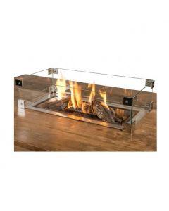 Happy Cocooning: Glazen ombouw Cocoon Table Inbouwbrander Rechthoek