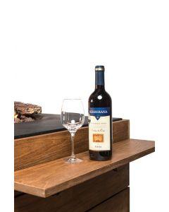 Happy Cocooning: Teakhouten Side Table klein met Poeder coated/rubber steunen - 2 stuks