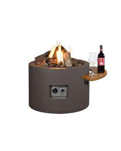 Happy Cocooning: Houten Side Table voor Ovaal/Rond met 2 poeder coated/rubber steunen - 2 stuks
