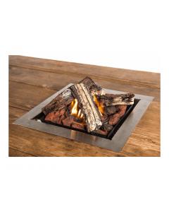 Happy Cocooning: Losse inbouwbrander vierkant groot - Grijs