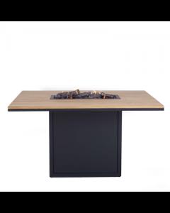 Cosi: Cosiloft 120 Relax Dining Teak Tafelblad - zwart