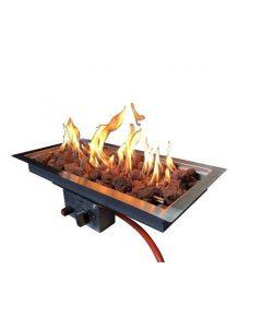 Enjoyfires: Inbouwbrander rechthoek 60x30 - Zilver