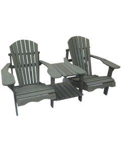 SenS-Line: Jumbo Canadian Chair dubbel - Grijs