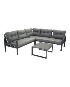 SenS-Line: Elba aluminium loungeset - zwart