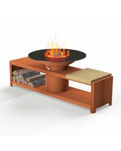 Forno: BFC4 Houtskoolbarbecue - Koper