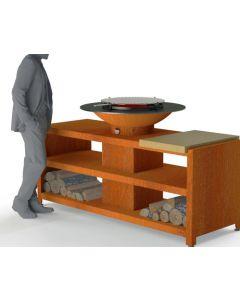 Forno: BFC7 Houtskoolbarbecue - Koper
