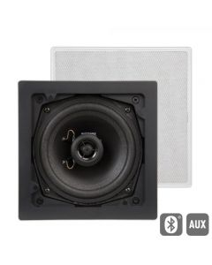 Artsound: FL101BT Actieve Outdoor Inbouw Speaker (Vierkant) - Wit