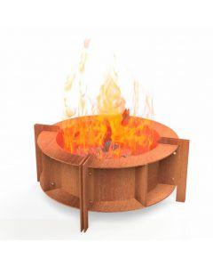 Burni: Form BFS3 Vuurschaal - Cortenstaal