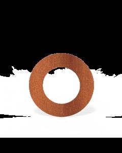 Forno: Rookkanalen Steel 2mm BAC12.150 Rosette round 150mm, Steel 2mm - koper