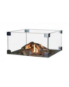 Happy Cocooning: Glazen ombouw Cocoon Table Vierkant/Rechthoek