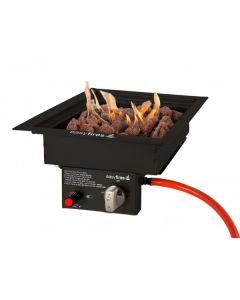 Easy Fires: Inbouwbrander Vierkant klein - zwart