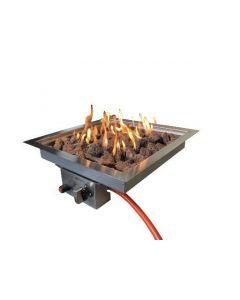 Enjoyfires: Inbouwbrander vierkant 42x42 - Zilver
