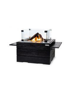 Happy Cocooning: Zwart Teak Houten Side Table Met 2 poeder coated/rubber steunen - 2 stuks