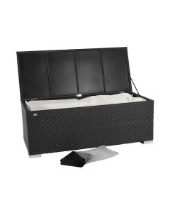 Kussen box III - Zwart - Plat vlechtwerk