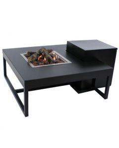 Enjoyfires: Vuurtafel Ambiance Vierkant  - Zwart-zwart